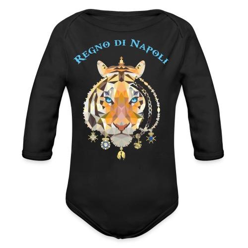 regno di napoli tigre - Body ecologico per neonato a manica lunga