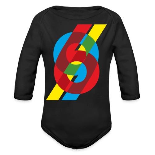 colorful numbers - Organic Longsleeve Baby Bodysuit