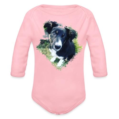 colliegermanshepherdpup - Organic Longsleeve Baby Bodysuit