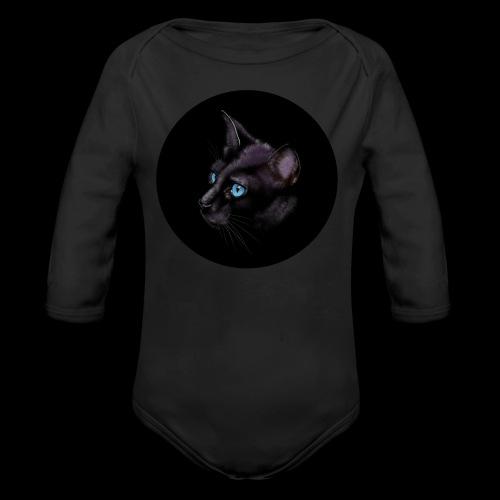 Black Cat - Organic Longsleeve Baby Bodysuit