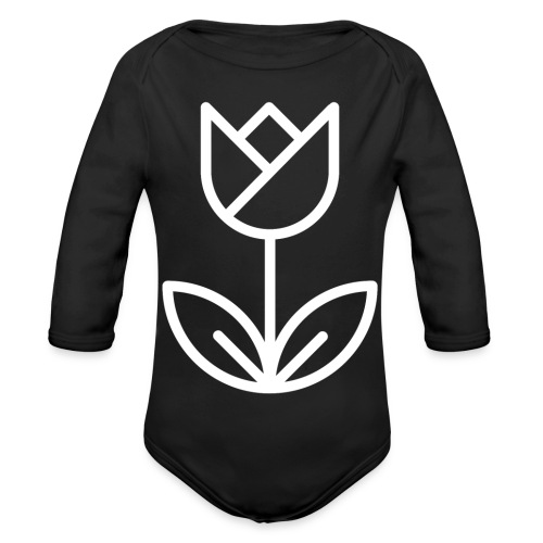 Tulip white png - Organic Longsleeve Baby Bodysuit