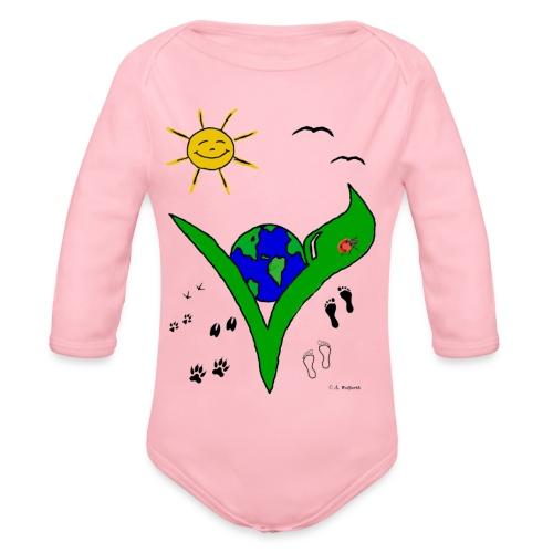 Ein Logo geht um die Welt - Baby Bio-Langarm-Body