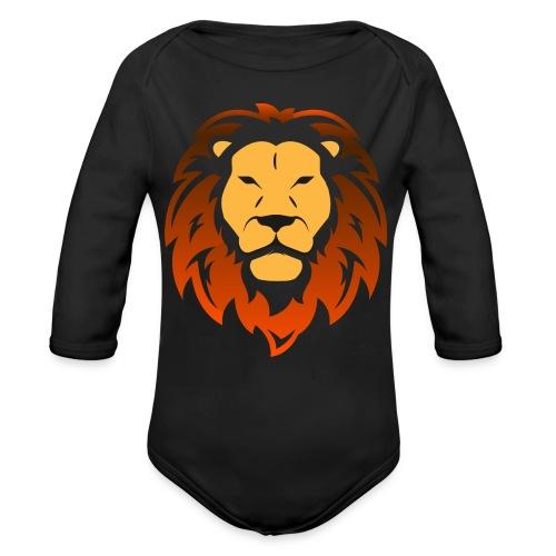 Lion orange - Body Bébé bio manches longues