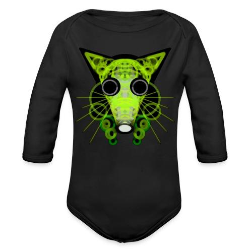 strange head of a rat in punk style - Organic Longsleeve Baby Bodysuit