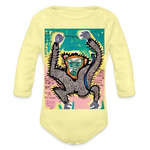 the monkey - Body ecologico per neonato a manica lunga