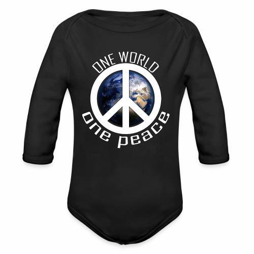 One World, One Peace - Baby Bio-Langarm-Body
