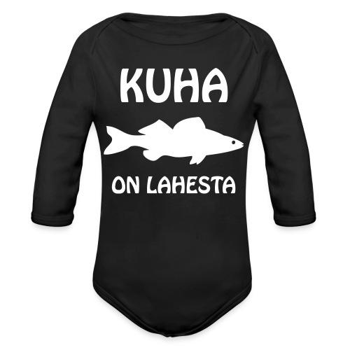 KUHA ON LAHESTA - Vauvan pitkähihainen luomu-body