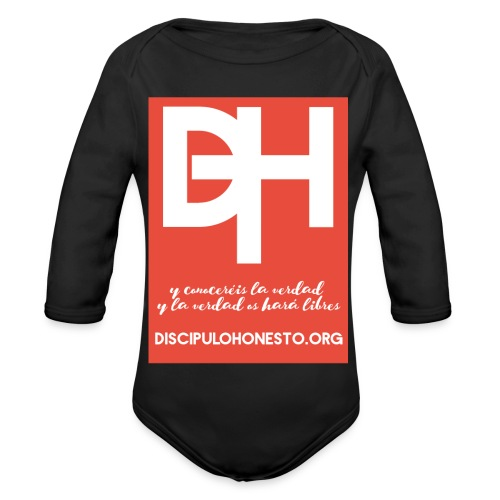 Camiseta Oficial DiscipuloHonesto.org - Body orgánico de manga larga para bebé