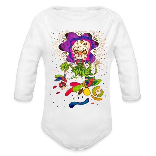 doskalle - Ekologisk långärmad babybody
