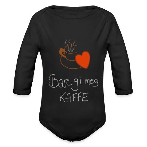 Kaffe - Økologisk langermet baby-body