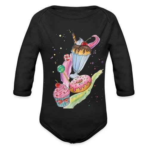 Sweets Watercolors Nadia Luongo - Body ecologico per neonato a manica lunga