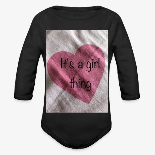 It's a girl thing! - Organic Longsleeve Baby Bodysuit