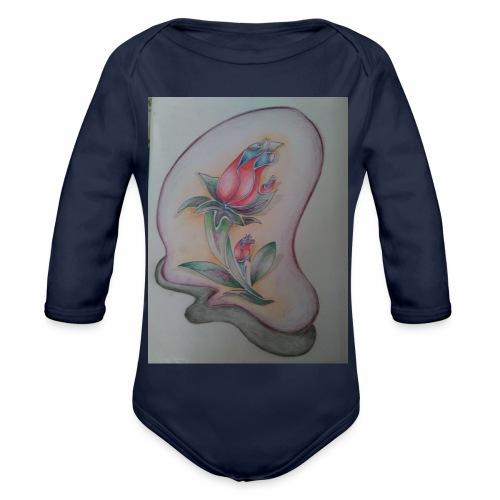 fiore magico - Body ecologico per neonato a manica lunga