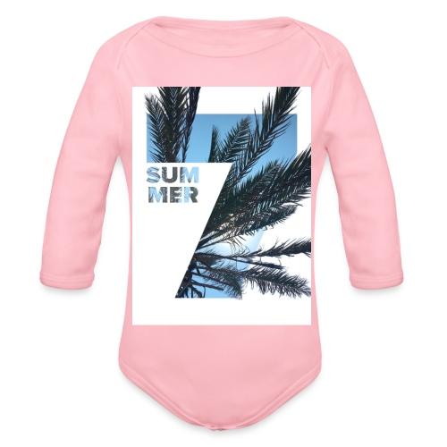 Summertime - Baby bio-rompertje met lange mouwen