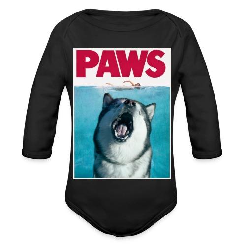 paws Alaskan Malamute - Organic Longsleeve Baby Bodysuit