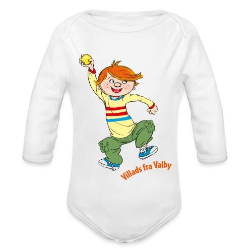 Villads fra Valby - Langærmet babybody, økologisk bomuld