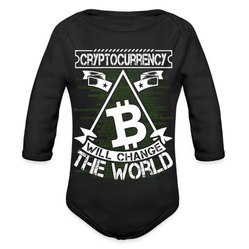 cryptocurrency - Baby bio-rompertje met lange mouwen