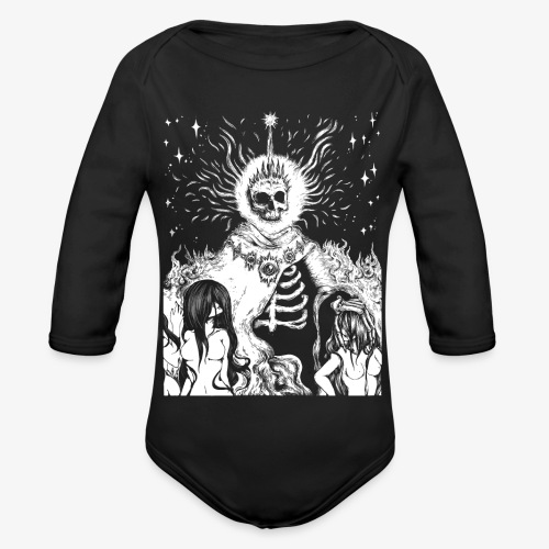 The King - Organic Longsleeve Baby Bodysuit