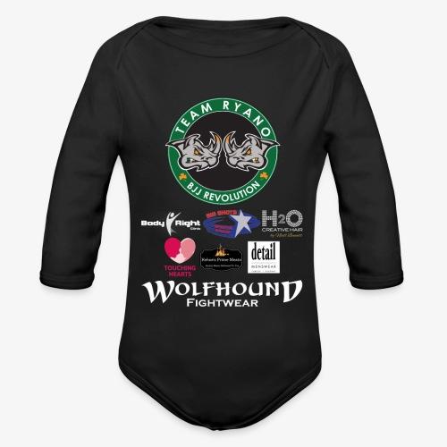andy murphy back 0617 png - Organic Longsleeve Baby Bodysuit