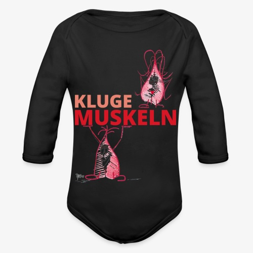 Kluge Muskeln - Baby Bio-Langarm-Body