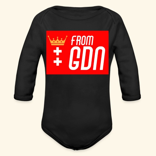 #fromGDN - Ekologiczne body niemowlęce z długim rękawem