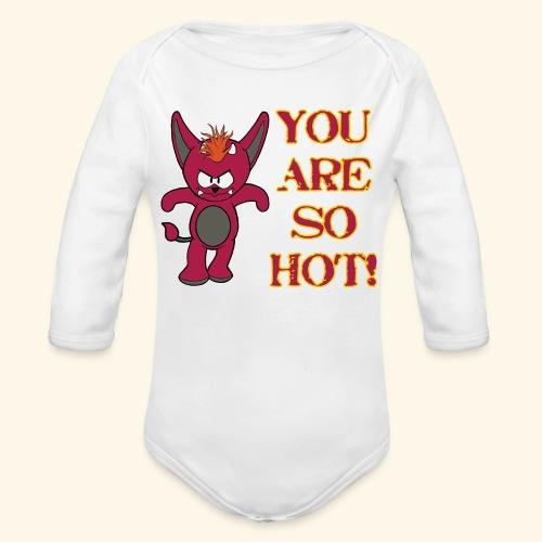 Zwergflammelfe - You are so hot! - Baby Bio-Langarm-Body