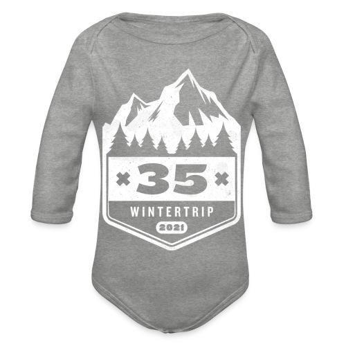 35 ✕ WINTERTRIP ✕ 2021 - Baby bio-rompertje met lange mouwen
