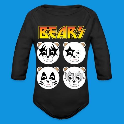 Kiss Bears square.png - Organic Longsleeve Baby Bodysuit