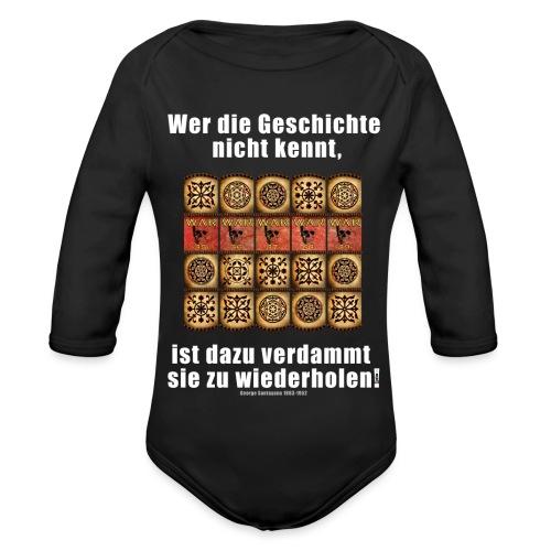 71_Geschichte_Lernen - Baby Bio-Langarm-Body