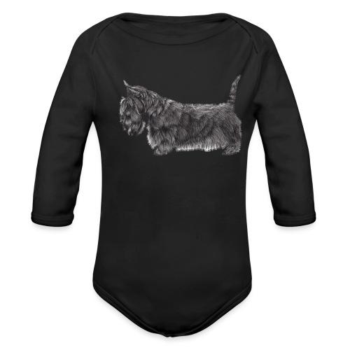 skotsk terrier ub - Langærmet babybody, økologisk bomuld