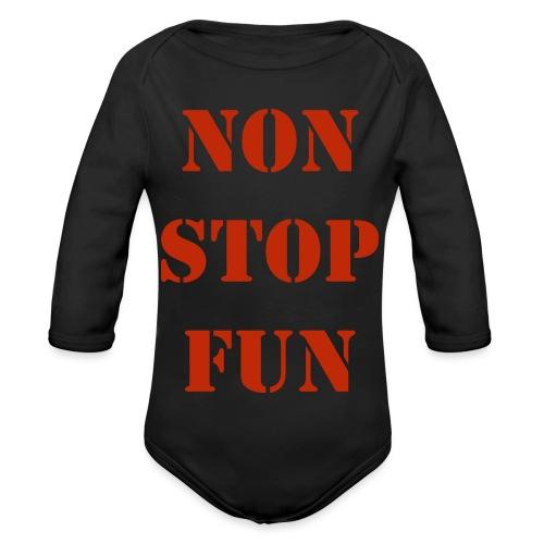 non stop fun - Baby Bio-Langarm-Body