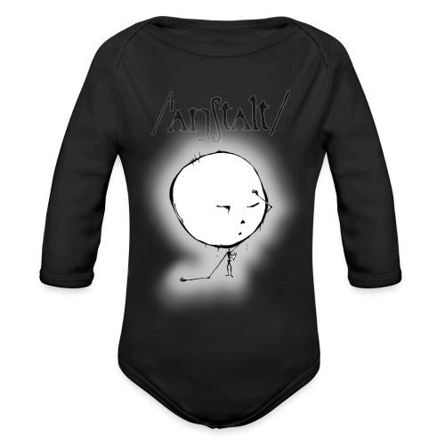 kreisling mit logo (schwarz) - Baby Bio-Langarm-Body