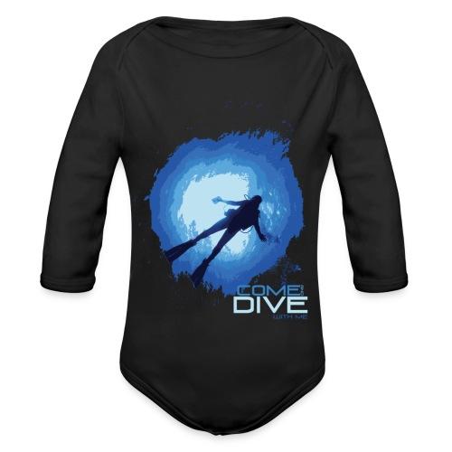 Come and dive with me - Ekologiczne body niemowlęce z długim rękawem