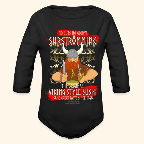 Surströmming Challenge Viking Sushi T-Shirt - Baby Bio-Langarm-Body