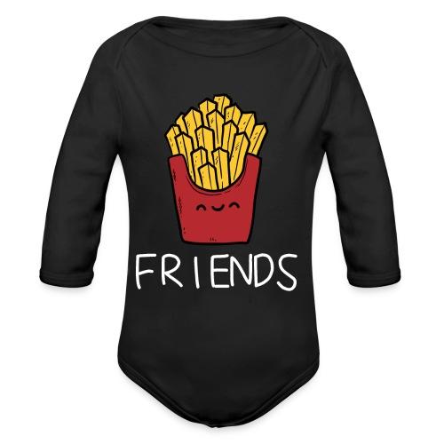 Burger und Pommes Best Friends Partnerlook - Baby Bio-Langarm-Body