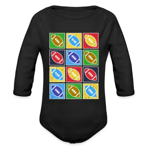 American Football Fan Shirt Geschenkidee - Baby Bio-Langarm-Body
