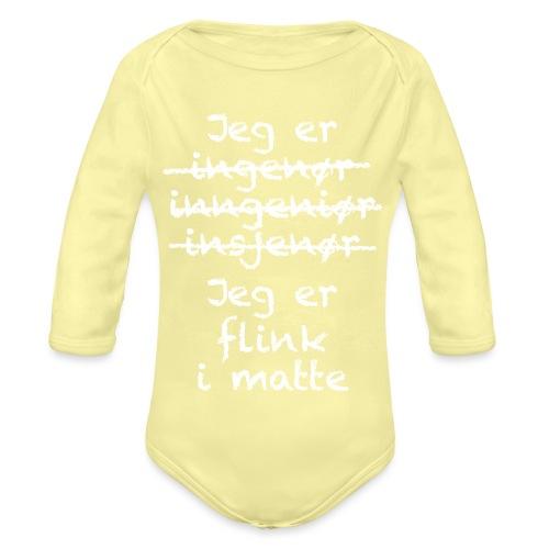 Flink i matte - Økologisk langermet baby-body