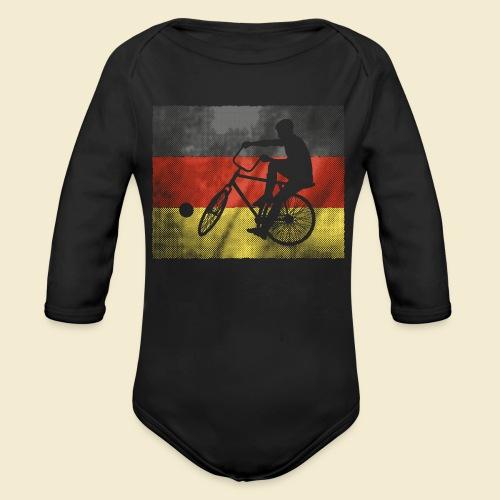 Radball   Flagge Deutschland - Baby Bio-Langarm-Body