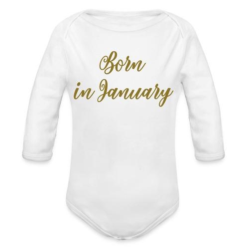 Born in - Baby bio-rompertje met lange mouwen