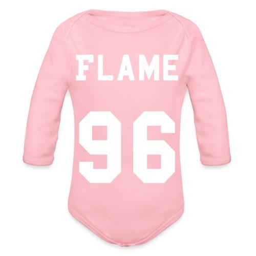 maglietta_flame_96 - Body ecologico per neonato a manica lunga