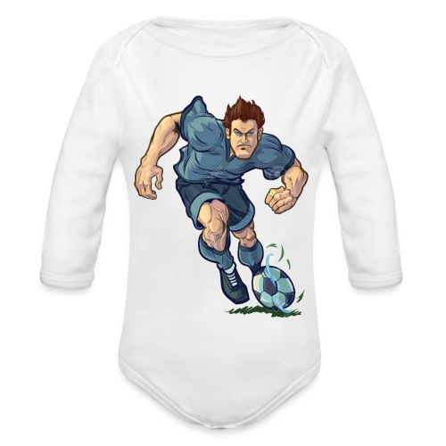 41982995-Vector-de-dibujos-animados-ilustraci-n-de - Body orgánico de manga larga para bebé