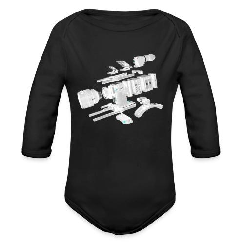 VivoDigitale t-shirt - RED - Body ecologico per neonato a manica lunga