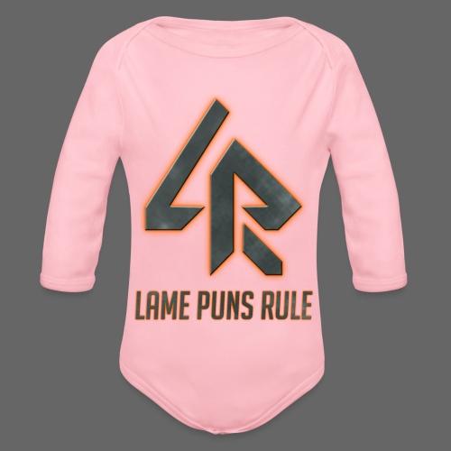 Lame Puns Rule: Logo - Organic Longsleeve Baby Bodysuit