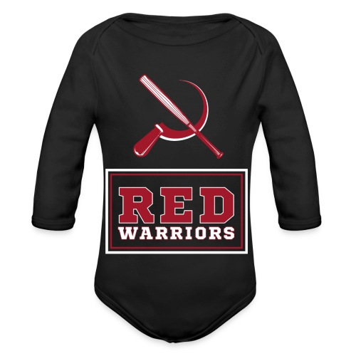 Red Warriors Logo2 - Body Bébé bio manches longues