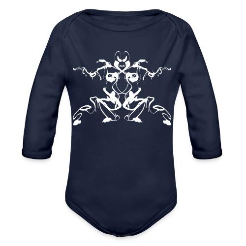 Rorschach test of a Shaolin figure Tigerstyle - Organic Longsleeve Baby Bodysuit