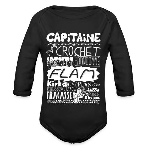 capitaine-blanc Tee shirts - Body Bébé bio manches longues