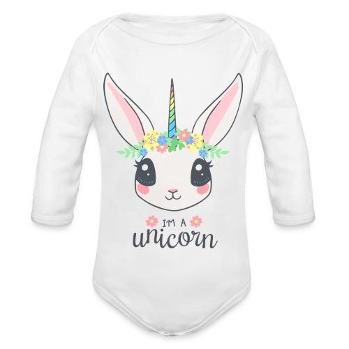 I am Unicorn - Baby Bio-Langarm-Body