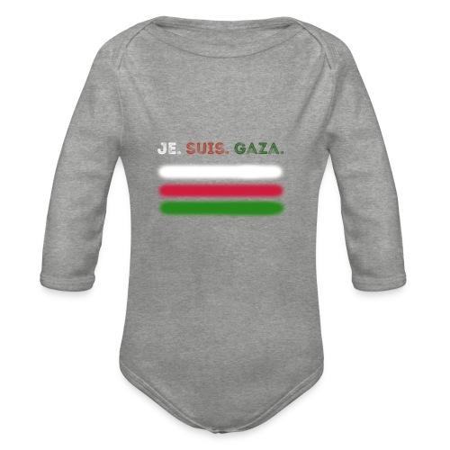 Je Suis Gaza - Langærmet babybody, økologisk bomuld