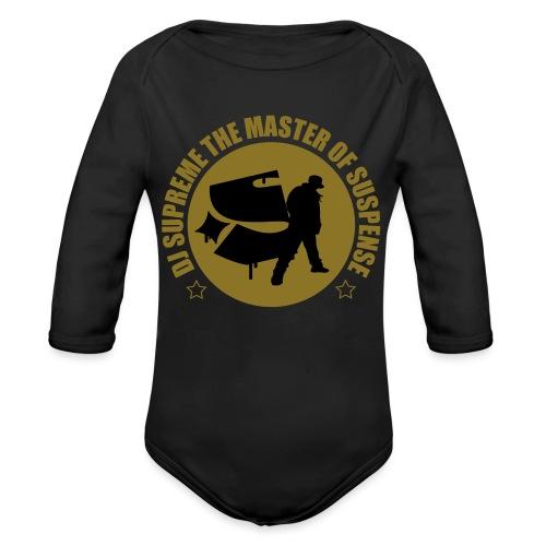 Master of Suspense T - Organic Longsleeve Baby Bodysuit