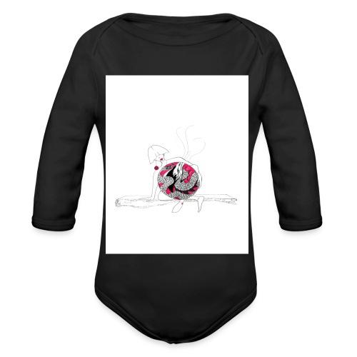 red lady - Organic Longsleeve Baby Bodysuit